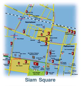 Siam Square map