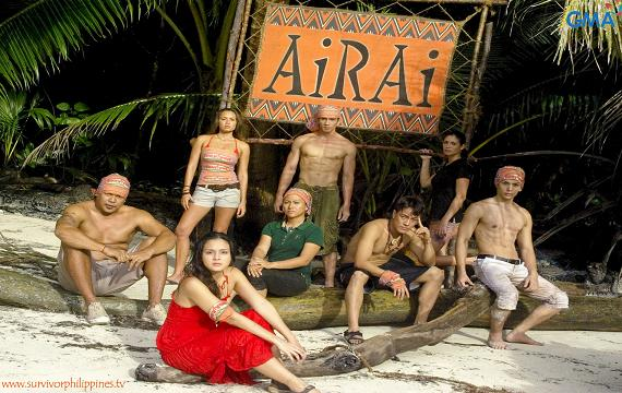 The original Airai tribe (clockwise from left): Cris, Mika, Shaun, Amanda, Vlad, Troy, Maya and Jef