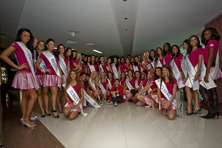 Miss Intercontinental 2009 Candidates in one of their pre-pageant activities