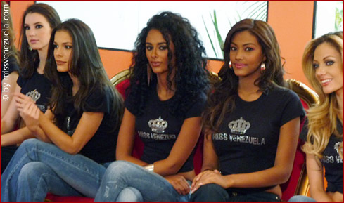 Some of the Miss Venezuela 2010 candidates waiting for their turn in the catwalk.