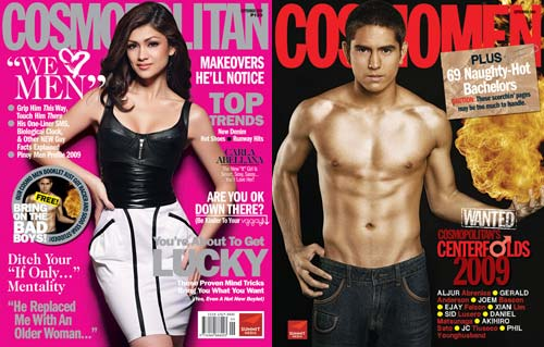Cosmopolitan Philippines September 2009 special issue with Carla Abellana and Gerald Anderson on the main cover and bonus Cosmomen booklet, respectively.