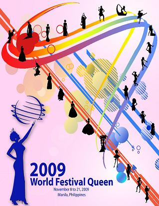 World Festival Queen 2009 promotional poster but with change of finals date to December 8, 2009
