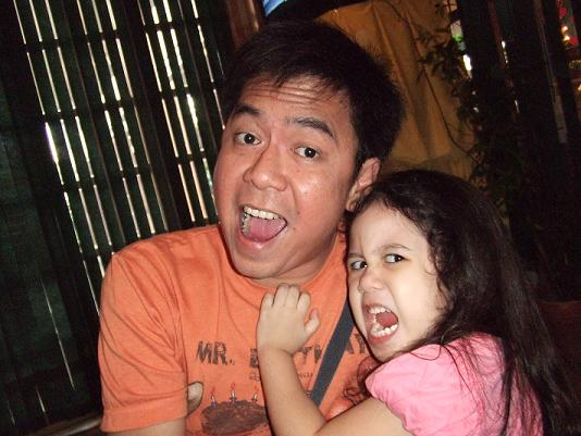Your blogger and his niece, Ishi, horsing around.