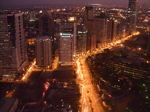 Ortigas Business District at night