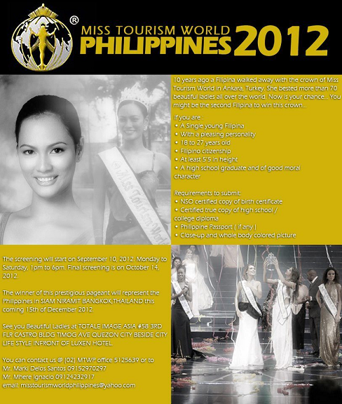 Miss Tourism World Philippines 2012 | normannorman com