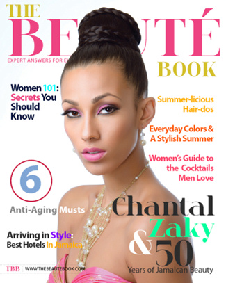 On the cover of Beaute' Book
