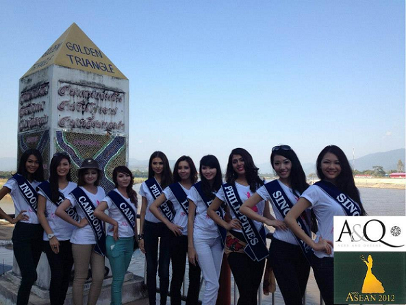 The Miss ASEAN ladies visit the Golden Triangle.