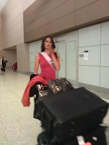 Janine arriving at McCarran Intl Airport in Las Vegas.