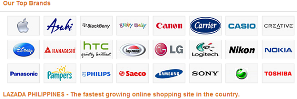 Above are Lazada's best-selling brands. But they offer more...a lot more!