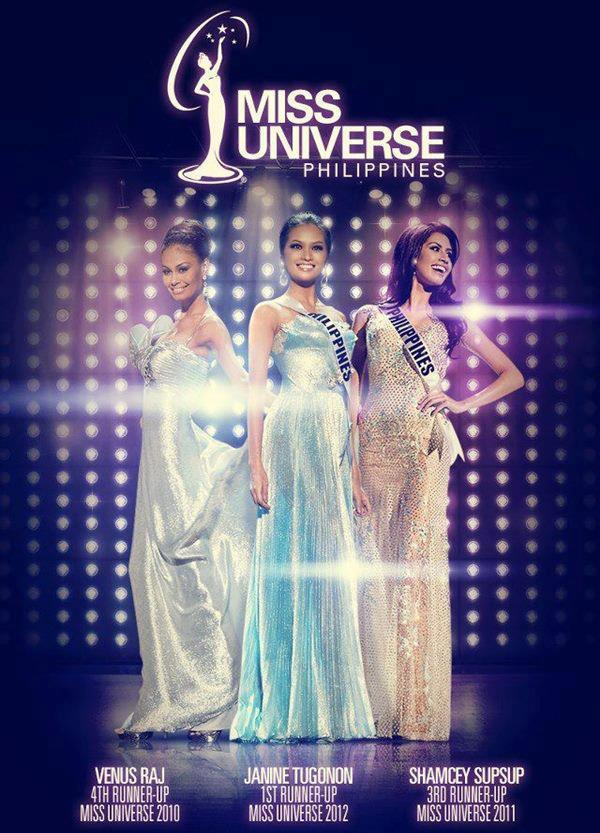 "To complete a quartet of successful (and consecutive) Miss Universe Philippines titleholders, the only thing (or letter) missing is""U""."