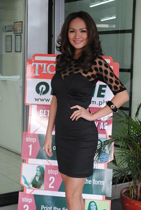 I initially mistook her for someone else, but here's Mariz when she filed for BBP2013.