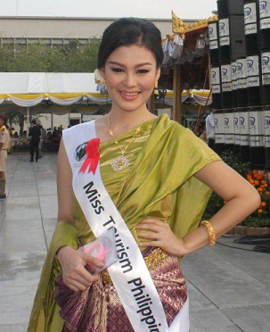 Meryl Angeline representing the Philippines in Miss Tourism World 2012 held in Thailand.