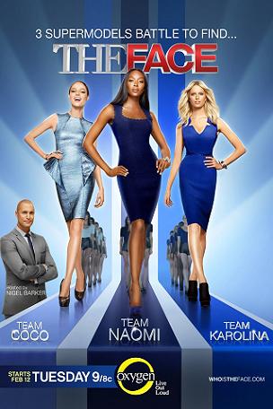 "Supermodels Naomi Campbell (center), Karolina Kurkova (R) and Coco Rocha headline ""The Face"" together with Nigel Barker."