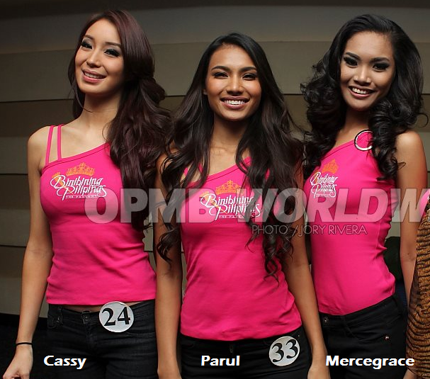 Cassy, Parul and Mercegrace: ready to stamp their class in the competition? (Photo credit: Jory Rivera/OPMB Worldwide)