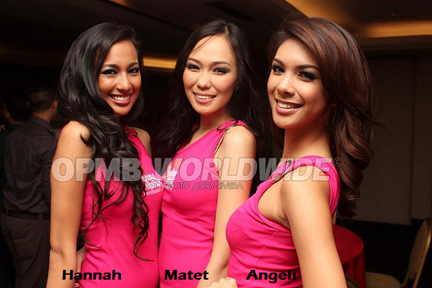 Hannah, Matet and Angeli: when will they start upping their ante? (Photo credit: OPMB Worldwide)