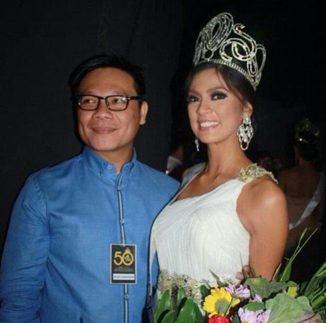 Jonas Gaffud (left) and Miss Universe Philippines 2013 Ariella Arida
