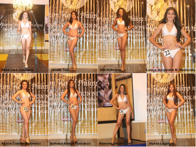 Eight of the more eye-catching candidates of Miss Tourism World Philippines 2013.