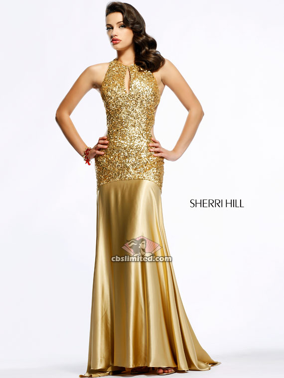 She could also look drop dead gorgeous in this Sherri Hill creation.