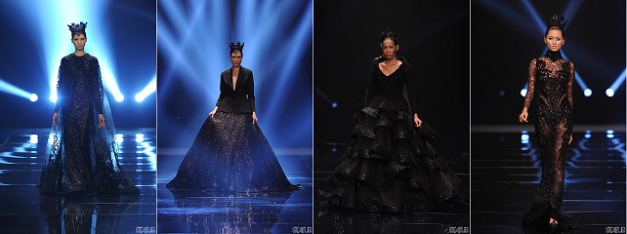 Michael Cinco's visions in black (Photo credit: Bruce Casanova/Status Magazine)