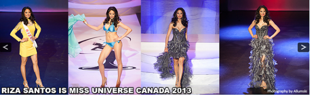 The top banner of the Miss Universe Canada website
