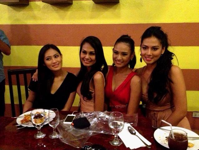 More beauties: (L-R) Dianne Necio, Venus Raj, Czarina Gatbonton & Mary
