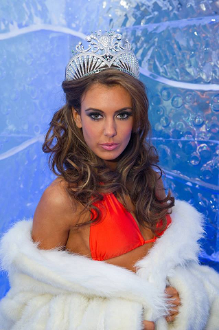 Erin during her first photoshoot as Miss USA 2013 at Minus 5 Ice Bar in Las Vegas.