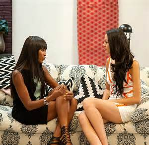 Zilin (right) and mentor Naomi Campbell during happier times on 'The Face'