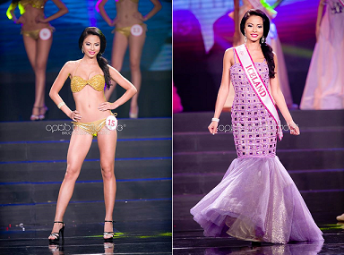 Ásdís Lísa Karlsdottir in action during the Mutya finals (Photo credit: OPMB Worldwide/Bruce Casanova)