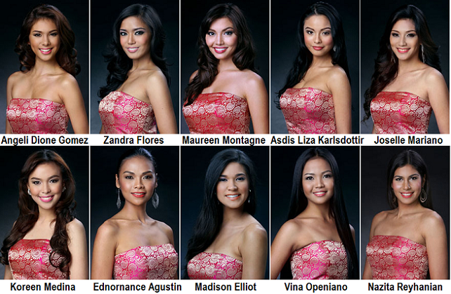 getting fond of these ten candidates for Mutya ng Pilipinas 2013