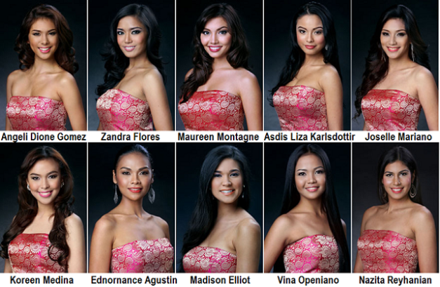 I'm getting fond of these ten candidates for Mutya ng Pilipinas 2013.