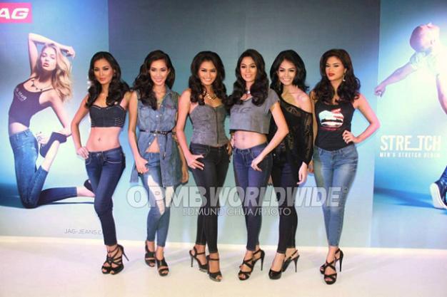 All in one straight line (l-r): Mutya, Bea, Janine, Ara, Pia and Cindy (Photo credit: OPMB Worldwide/Edmund Chua)