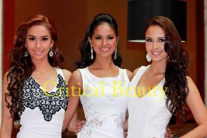 (L-R) Samantha Bernardo, Janicel Lubina and Megan Young (Photo credit: Jonas Yu/Critical Beauty)