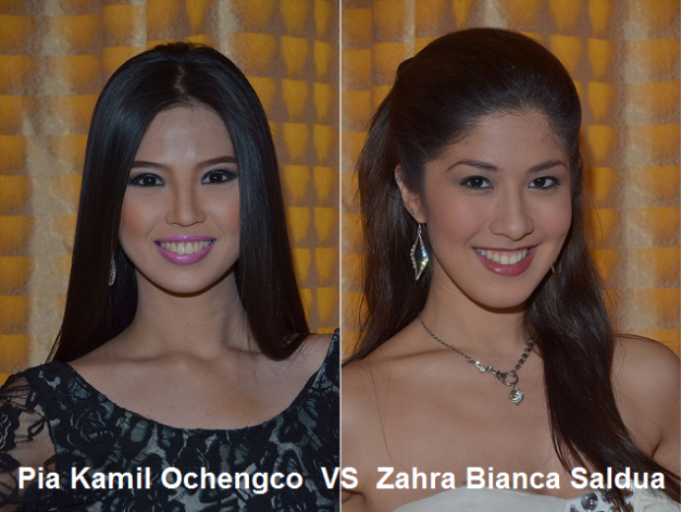 Pia and Zahra could be the dark horses in MWP2013 (Photo credit: Miss World Philippines)