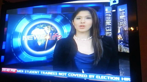 Zahra as News Anchor of PTV-4's News Life.
