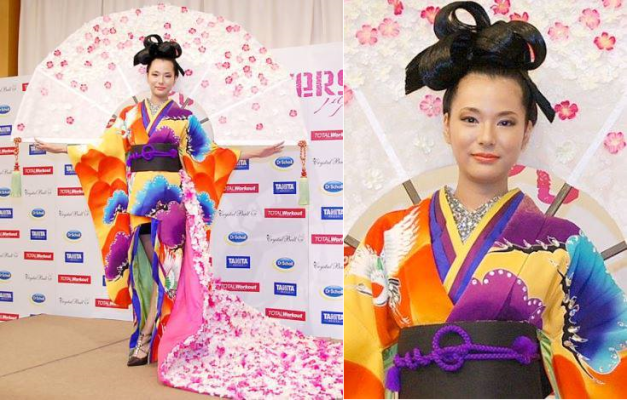 Yukimi Matsuo of Japan will wear the above in Moscow for MU2013
