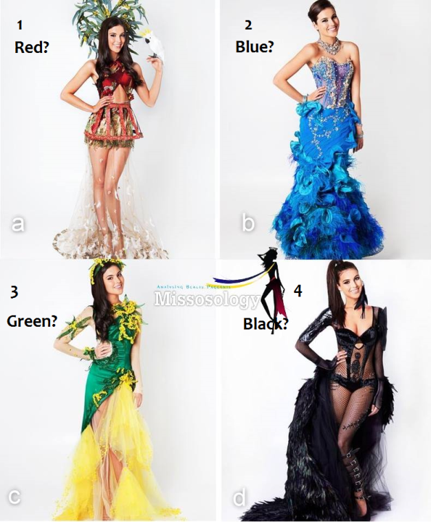 Would you like to help Olivia decide on which NC to wear for MU2013?