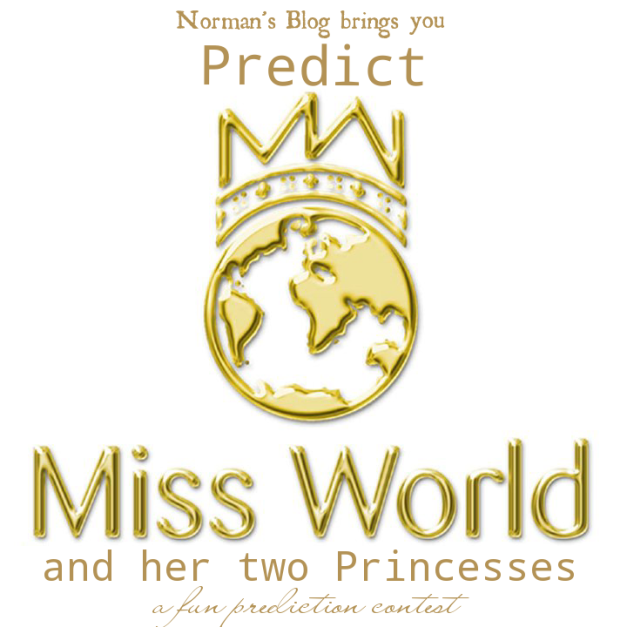 And we have a winner! (Miss World logo above courtesy of Miss World Organization
