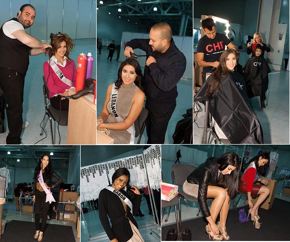 Hair stylings/fittings with USA, Lebanon, Australia, Korea, Gabon and Singapore.