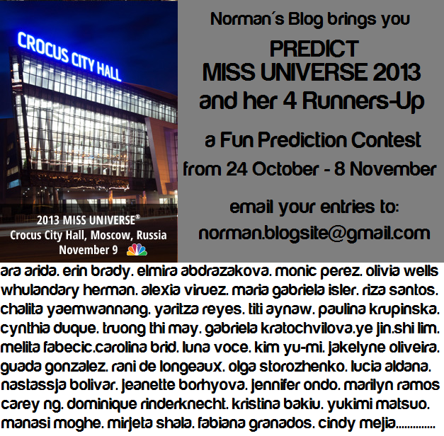 This should make our Miss Universe 2013 coverage a tad more exciting!