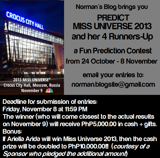 If the eventual winner happens to live outside the Philippines, the prize will be a USD100 Amazon gift card.