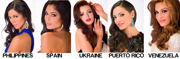 Barring any unexpected surprise/s, one of the five above could be the new Miss Universe.
