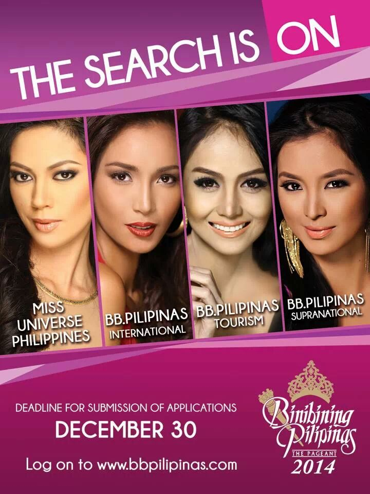 The search is on for Bb. Pilipinas 2014!