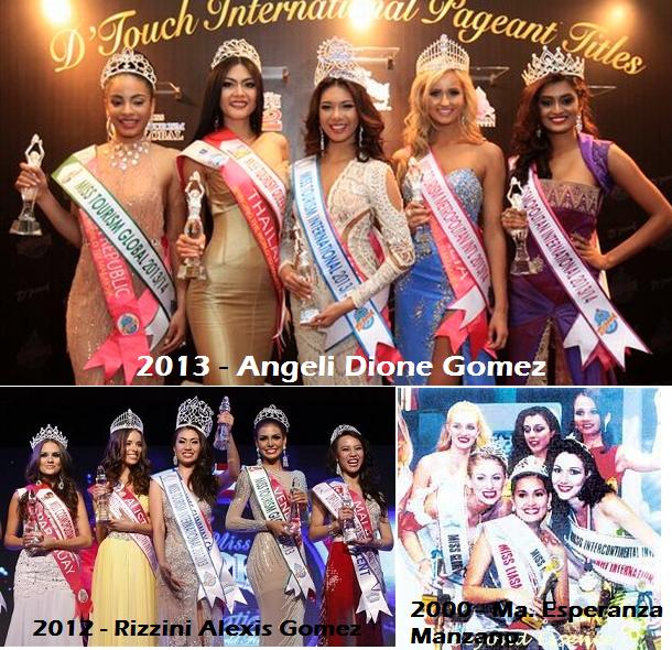 The Philippines' three titleholders of Miss Tourism International