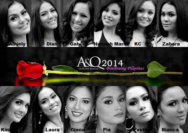The Dazzling Dozen of A&Q for Bb. Pilipinas 2014 (Photo collage courtesy of paooap)