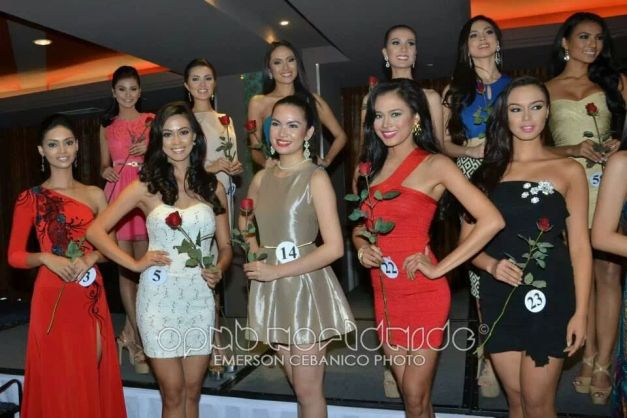 Anabel (first row, #14) with the other Official Candidates of Bb. Pilipinas 2014 (Photo credit: OPMB Worldwide)