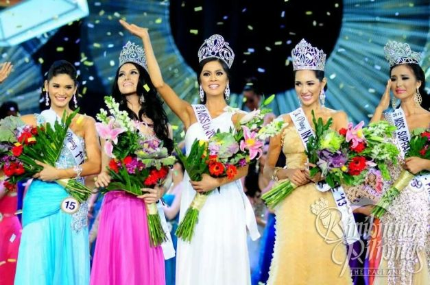 Bb. Pilipinas Gold winners (left to right): Pia, Cindy, Ariella, Bea Rose and Mutya