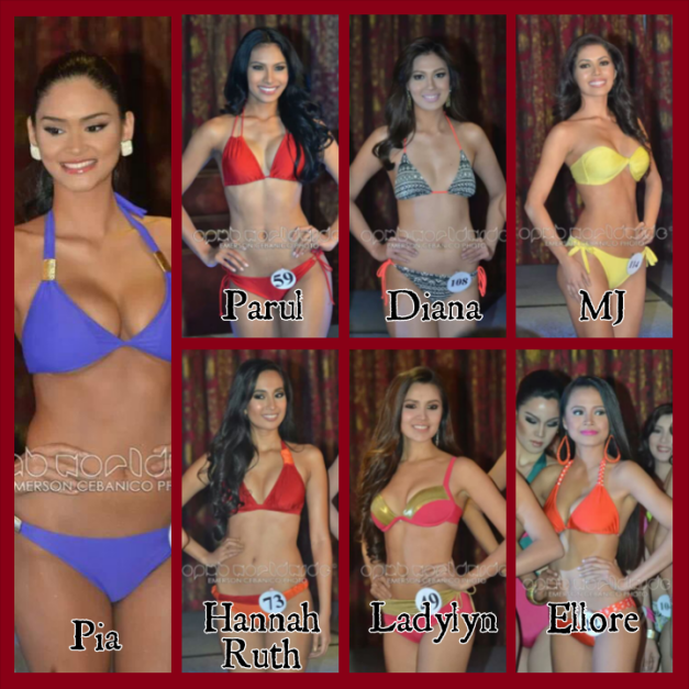 The seven (7) repeating applicants of Bb. Pilipinas 2014 (Photo credit: OPMB Worldwide)