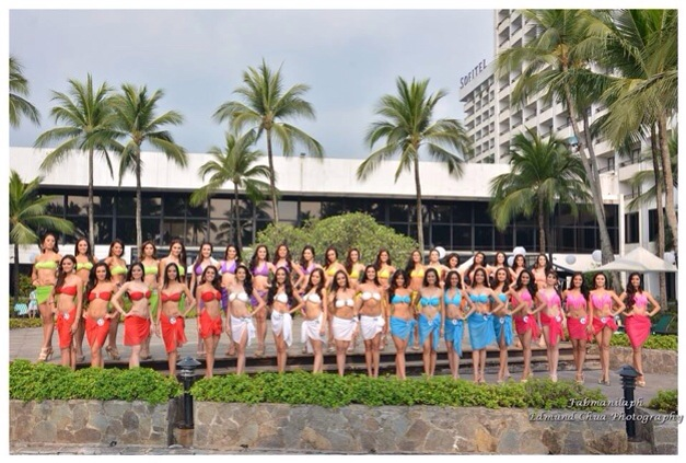 The Bb. Pilipinas 2014 Official Candidates at the bayfront of Sofitel Philippine Plaza (Photo credit: Edmund Chua)
