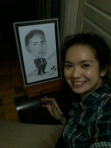 Anabel gifted Rodgil Flores with the caricature above.