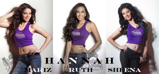 The three Hannahs of Bb. Pilipinas 2014